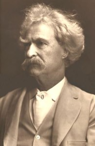 Mark Twain (photo by A.F. Bradley)