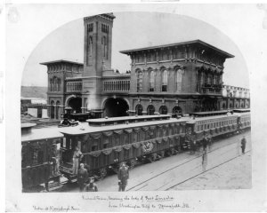 The Lincoln Funeral Train in Harrisburg, PA.