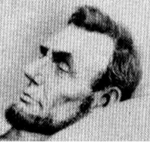 Unauthenticated photo of Lincoln after death, April 16,1865