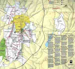 Gettysburg National Military Park Map