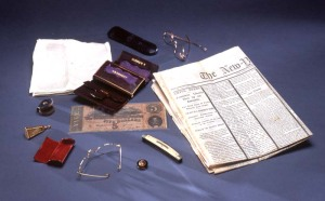 Contents of Lincoln's pockets at time of his assassination