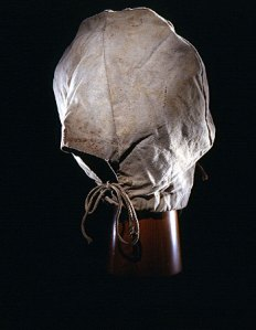 Canvas hood worn by male conspirators during captivity for the Lincoln assassination