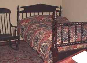 Lincoln's Deathbed from the Peterson Home