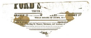 Blood-stained playbill from night of the assassination