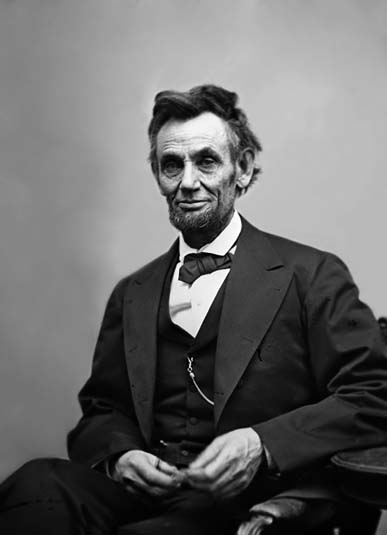 February 5, 1865 - Alexander Gardner photo of Abraham Lincoln (exposure #3)