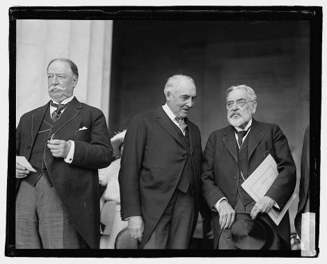 Chief Justice William H. Taft (former President), President Harding and Robert Lincoln