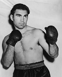 Ex-Heavyweight Boxing Champion Max Schmeling (1930-32) visited Stalag Luft 1 in 1945