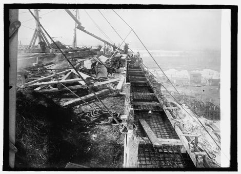 Another view of the foundation construction from January 1915.