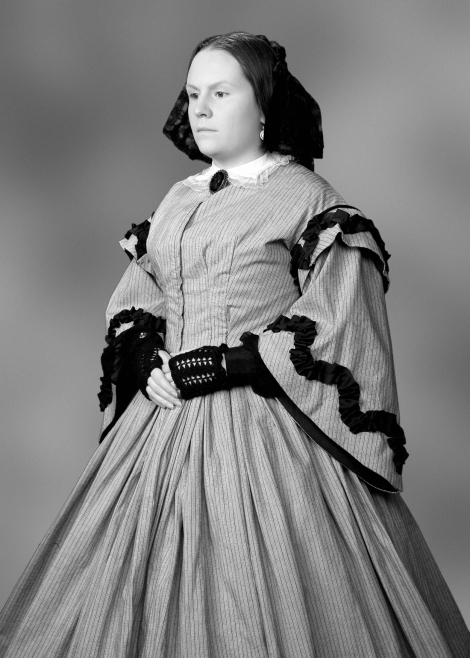 Laura F. Keyes as Mrs. Mary Todd Lincoln in her own 'one woman show'.