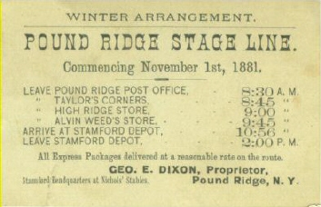 George E. Dixon's business card.