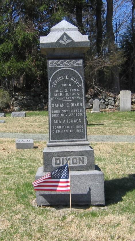 The Dixon gravestone.