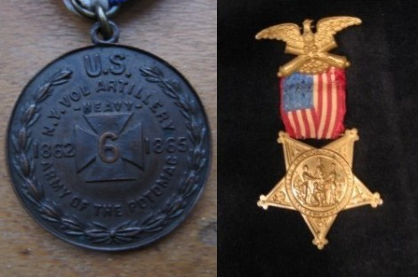 George Dixon's Army of the Potomac and GAR medals