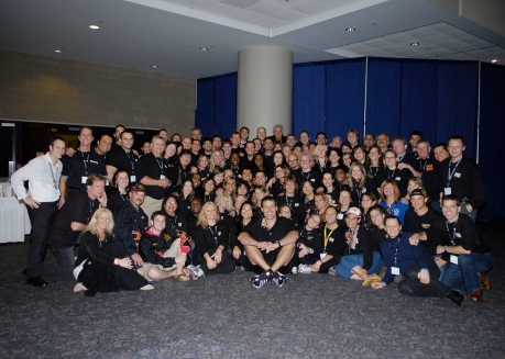 Tony Robbins and crew from the 2008 UPW event in Toronto. I'm just peeking out in the last row second from your right.