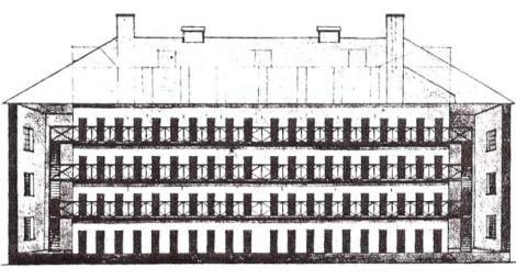 Charles Bulfinch's sketch of the penitentiary.