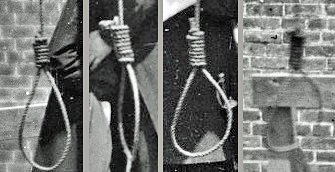 The nooses of the Lincoln conspirators.