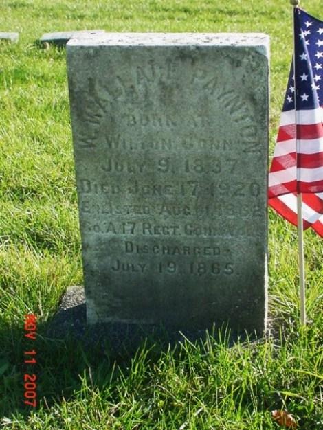 Paynton, W. Wallace grave