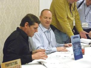 Barry & John at authors' table 2012 Surratt Conference 17Mar12